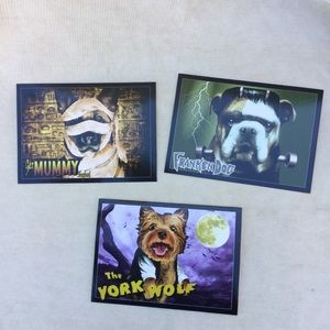 Halloween Dog Theme Greeting Cards Lot of 3